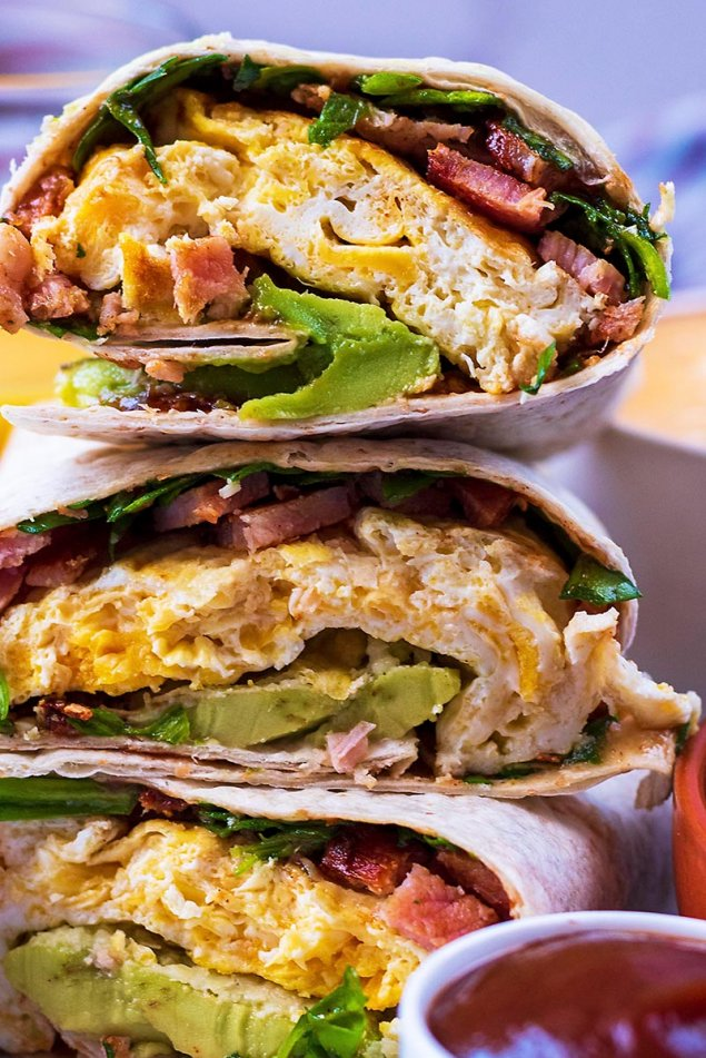 Figjam Breaky Wrap (bacon, egg, tomato and Spanish onion)