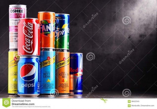 Soft Drink Cans Variety Each