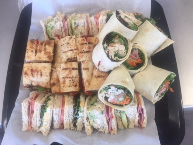 Combination of Classic Homestyle and Gourmet Sandwiches (wraps, simple, and Turkish) w/various fillings (Medium)